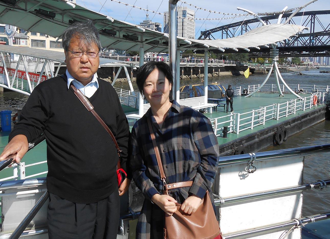 バイオ研究室の相談役だった伊達さんと中国遼寧省で